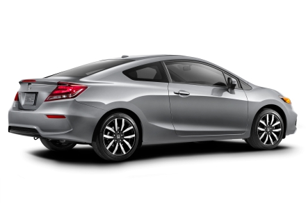 2014-Honda-Civic-silver-rear-three-quarters